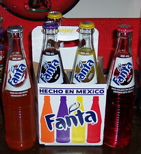 2016 FANTA FLAVORS 4 PACK OF 12 OUNCE GLASS COCA  COLA PRODUCT BOTTLES 1 OF EACH