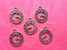 Tibetan Silver Stop Watch/Clock Charm- 5 per pack