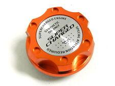 ORANGE SUPERCHARGED BILLET CNC RACING ENGINE OIL FILLER CAP FOR HONDA ACURA