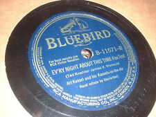 78RPM 2 Bluebird by Art Kassel, Evry Night About, Ring the Bell, Light a Cand V+