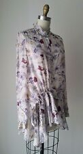 Chloe Ivory Silk printed tunic blouse top Sz T40