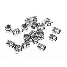 20pcs Flower Tibetan Silver Connectors Bails beads Fit European Charm Bracelets