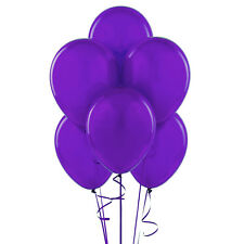 "144 Latex Balloons 12"" with Clips and Curling Ribbon - Purple"