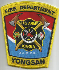 "U.S. Army - Yongsan, Korea  (new style)  (4"" x 4.5"" size) fire patch"