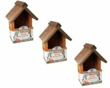 3x BEST QUALITY KINGFISHER DELUXE TRADITIONAL WOODEN NESTING BOX BIRD NEST HOUSE