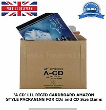 100 x 'A CD' LIL CD SIZE RIGID CARDBOARD AMAZON STYLE MAILERS 180 x 164mm C0 JL0
