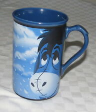 "Disney Store 5.1/2"" Eeyeore Mug - Popular Pessimist - Blue in the Rain"