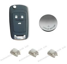 Repair kit for Vauxhall Insignia Astra 3 button remote key 3 switches & battery