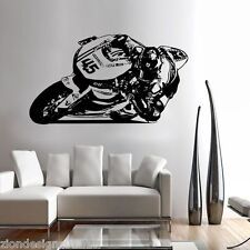 SCOTT lettura Wall Art 01 MOTO RACER Decalcomania Grafica Adesiva Unica