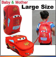 Hot Disney Pixar Cars McQueen Kids Boy's Backpack Pre-School Bag Xmas Gift