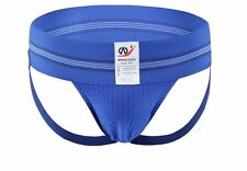 Men's Medium Traditional Wide Waistband Blue Cotton Sports Jockstrap Gay UK