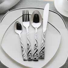 48 Pieces Stainless Steel Cutlery Set Knife Fork Spoon Teaspoon Royal Family