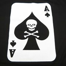 NEW DEATH CARD ACE OF SPADES HEAVY METAL POKER ROCKABILLY TEE T SHIRT Mens 5XL