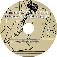 Black's Law Dictionary(1910) Bouvier's law dictionary (1914) Facsimile on 1 DVD