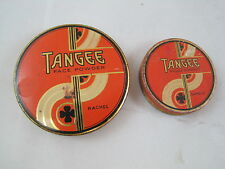 2 Art Deco Vintage Tangee Face Powder Rouge Compact Tins