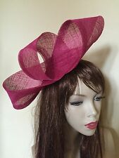 NEW Fuchsia Pink Fascinator Formal Hatinator Hairband Womens Wedding Hat Ladies