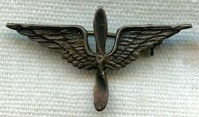 1930's - WWII US Air Corps Sweetheart Pin in Sterling