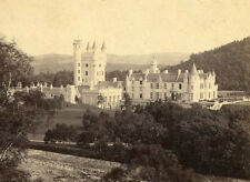 G W WILSON ABERDEEN SCOTLAND STEREOVIEW BALMORAL CASTLE FROM RIVER ABERDEENSHIRE