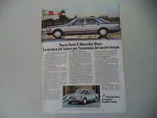 advertising Pubblicità 1980 MERCEDES BENZ SERIE S