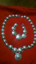 RARE VINTAGE SWEETHEART  WW2 MATCHING NECKLACE & BRACLET 92% SILVER W/COAT O/A
