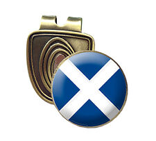 SCOTLAND FUSION CAP CLIP & MAGNETIC GOLF BALL MARKER IN BRONZE