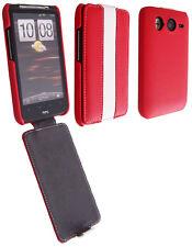 Etui Nzup StripColor rouge blanc pour HTC Desire HD