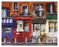 Nestor Cafe LAmbroisie Poster Kunstdruck Bild 62x77cm - Kostenloser Versand