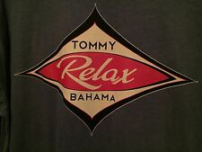 NEW TOMMY BAHAMA RELAX 100% Cotton SOFT COTTON Tee Shirt Blue Crew XL