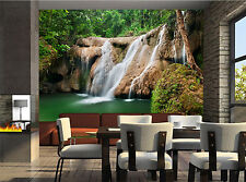 Forest Waterfall in Jungle Wall Mural Photo Wallpaper GIANT DECOR Paper Poster