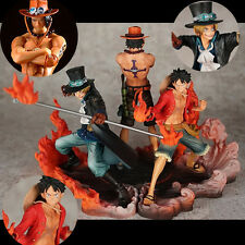 3pcs One Piece DXF Brotherhood II  Ace Sabo Luffy Flame Set Figurine No Box