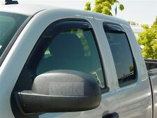 GMC Sierra  Ext Cab 2007 - 2014 In-Channel Wind Deflector Vent Visor Shade
