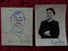 GEORGE ROBEY AUTOGRAPHED PHOTOS