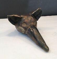 Interesting Animal Sculpture Figurine Handmade One of Kind Pottery Terra Cotta?