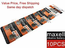 10x Maxell LR1130 189 AG10 GP89A 1.55V cell coin button battery Japan Ed 12-2019