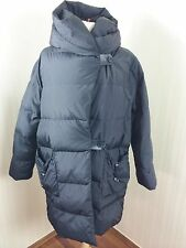 Gianfranco Ferre Black Nylon Down Puffer Parka Coat Sz M