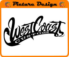 COPPIA  ADESIVI WEST COAST CUSTOMS  TUNING IN VINILE NEW