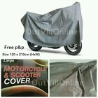 Outdoor Motorcycle Waterproof Motorbike Rain Vented Bike Moped Sun Cover Silver