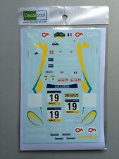 1/24 Peugeot 206 Gauloises WRC Rally '01 Decal for Tamiya
