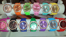 Job lot 26 pcs Rubber Silicone Diamante gel Watches new wholesale - lot F