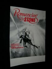 Original RARE 16mm Films Inc. Movie Rental Poster ROMANCING THE STONE