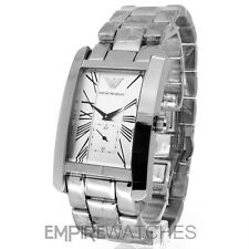 *NEW* MENS EMPORIO ARMANI SILVER CLASSIC WATCH - AR0145 - RRP £195.00