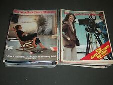 1980S NEW YORK TIMES SUNDAY MAGAZINE LOT OF 36 ISSUES - GREAT COVERS - O 2187