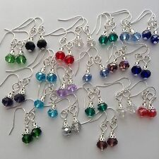20Pairs Beautiful Crystal Earring Jewelry with Interchangeable Copper Ball Hooks