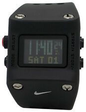 New Nike Chisel WC0045 012 Black Silicone Digital Chronograph Sports Mens Watch