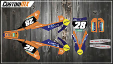 KTM 2002-2017 SX50 SX65 Graphics Kit with custom numbers etc - SX 50 65 Decals