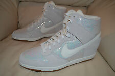 New Nike Womens Dunk Sky Hi PRM Premium Wedge Fashion Shoes 585560-003 sz 12