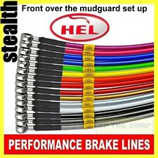 Honda CB400 Super four VTEC 1 & 2 HEL Stainless Brake lines / hose kit Crossover