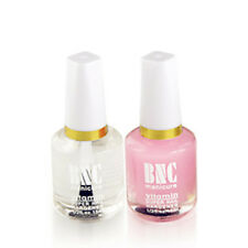 2pc/set Nail Art BaseCoat + Clear Polish Top Coat Glossy Cover Hardener Decor