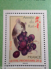 FRANCE 2008, TP 4131 NOUVEL AN CHINOIS, ANNEE du RAT, CHINA RAT STAMP