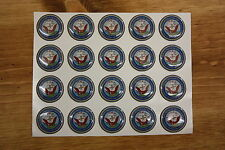 US Navy Logo Sticker Epoxy Dome 1inch round  for Bottle Cap Project or Magnets